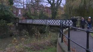 Bridge and River Leam in Leamington Spa