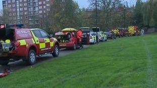 Rescue services at the scene