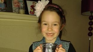 Jasmine with trophy
