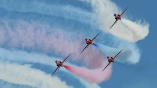 The Red Arrows will flyover Yarborough Sports Ground as part of the evening celebrations