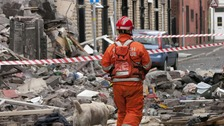 The scene of an explosion on Buckley Street, Oldham