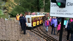 Train derails at Longleat