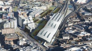 An aerial view of how Curzon Street station could look