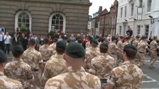 More than 250 soldiers will march through Worcester city centre today