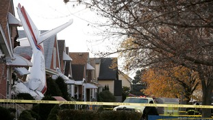 The small cargo plane crashed into a home in Chicago.