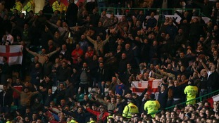 Football Association forced to prevent England band assisting with anti-IRA chanting at Celtic park