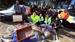 Officers from Durham County Council, Durham Constabulary and the Environment Agency are tackling fly-tipping.
