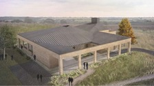 Computer-generated image of the proposed Wellingborough crematorium.