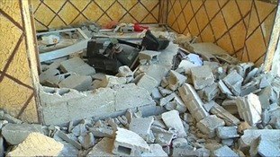 The home of 21-year-old Abdel-Rahman Shaloudi was destroyed shortly before dawn