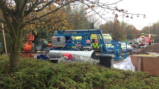 Two ambulances were also called to the scene during refurbishment work at the Sainsbury's store in Enfield
