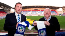 Malky Mackay and Wigan Chairman Dave Whelan