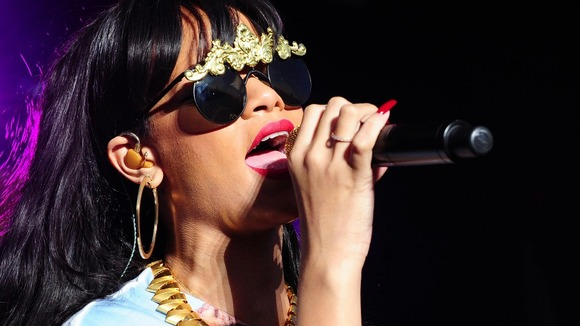 Rihanna performs at the Radio 1 Hackney Weekend at Victoria Park, Hackney, London.