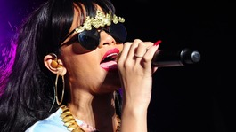 Rihanna performs at the Radio 1 Hackney Weekend at Victoria Park, Hackney, London