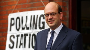 Ukip's candidate for Rochester and Strood, Mark Reckless, pictured at a polling station earlier.