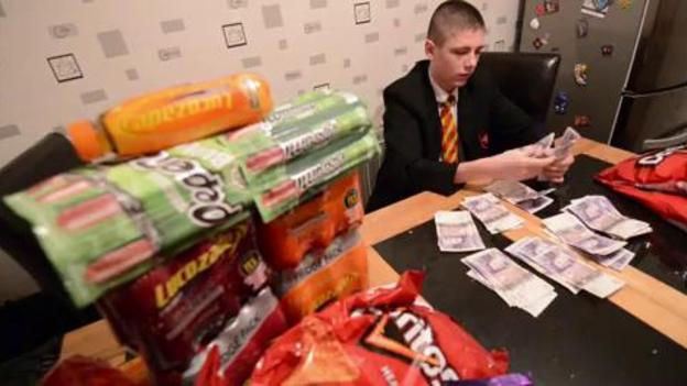 Schoolboy Makes K Selling Crisps ITV News - Kid threatened suspension making 14000 selling sweets school