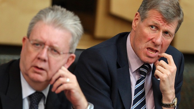 Justice Secretary Kenny MacAskill and Eduction Secretary Michael Russell have lost their jobs