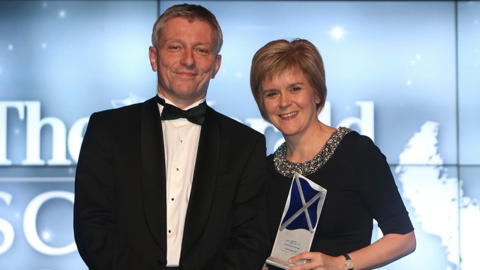 At the Herald Politician awards Nicola Sturgeon won 'Politician of the Year' and 'e-politician of the year'.