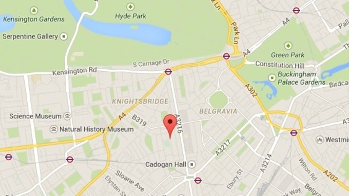 the fatal balcony collapse occurred in cadogan square in central londons knightsbridge area
