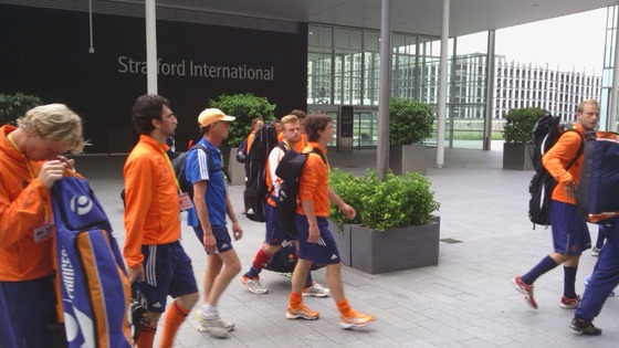 Dutch Hockey Team Arrive at Olympic Park