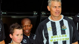 Newcastle legend Rob Lee celebrating thousands of North East kids receiving free football kit