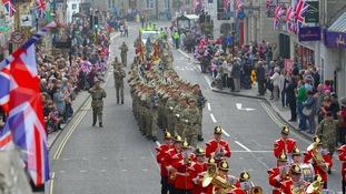 A military parade through York earlier this year.