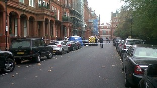 Cordon at the Cadogon Square after the incident