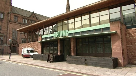 Browns Bar in Coventry where soldiers were turned away after the funeral of Michael Thacker