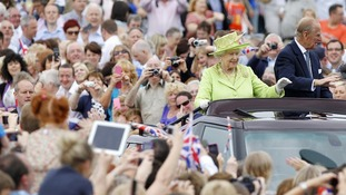 The Queen and Duke of Edinburgh tour the grounds of Stormont in Belfast