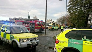 The scene of the crash in Toll End Road