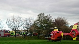 Midlands Air Ambulance airlifted a woman to hospital