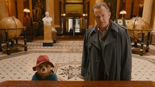 Paddington Bear with actor Hugh Bonneville in the new paddington film