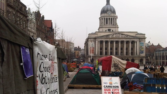 Occupy Nottingham camp today