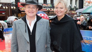 Actor Hugh Bonneville with his wife Lulu Williams