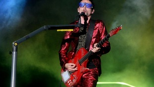 Matt Bellamy of Muse, who have been chosen to provide an official song for London 2012.