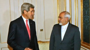 US Secretary of State John Kerry with Iran's Foreign Minister, Javad Zarif.