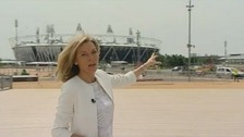 ITV News&#x27; Mary Nightingale takes a look around the Olympic Park
