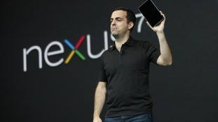 Hugo Barra, director of product management of Google, unveils Nexus 7 tablet.