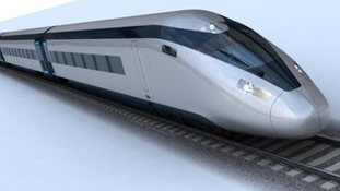 A computer generated image of a possible HS2 train