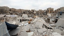 The destruction in Aleppo.