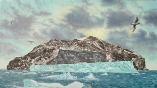 Icebergs and Island by Krys Leach