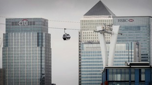 The cable car is known as the Emirates Air Line.
