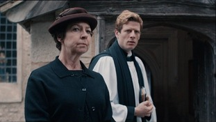 Tessa Peake-Jones and James Norton, who star in 'Grantchester'.