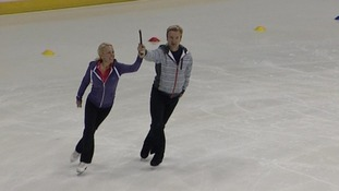 Torvill and Dean in practice sessions earlier this week