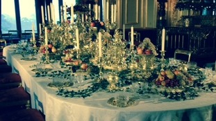 Christmas preparations at Windsor Castle