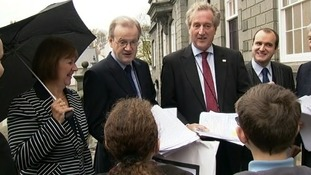 Letters handed to politicians
