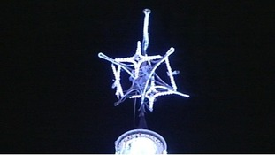 star on the top of the tree