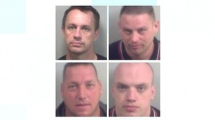 Four of six men jailed over drugs ring