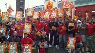 Firefighters striking in Basildon