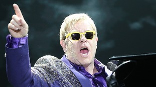 Elton John performing in Poland