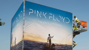 Pink Floyd Artwork unveiled via Cube Installation on South Bank in London.